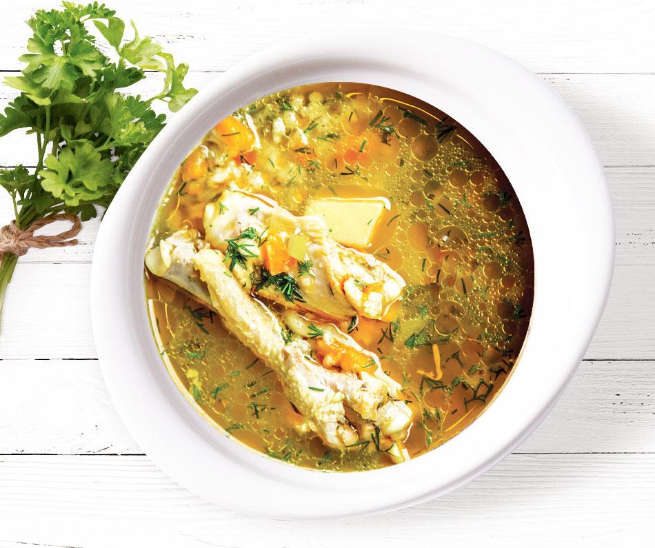 Tradiční gruzínská polévka chikhirtma