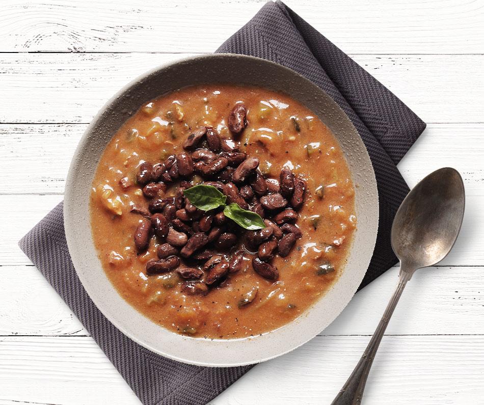 Fazolová polévka z Gruzie