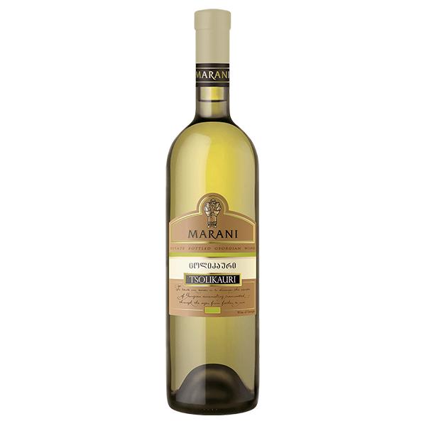 Suché bílé víno Tsolikauri Marani z Gruzie v ČR, Brno